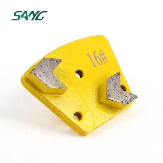 Trapezoid Diamond Grinding Shoes for Concrete and Terrazzo Floor