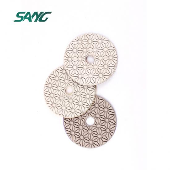 4 inch 3 step diamond polishing pad