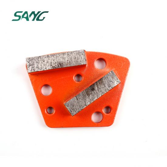 Trapezoidal diamond grinding tooling
